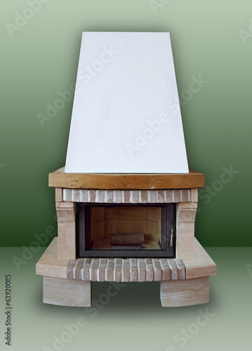Fireplace ​​of brick