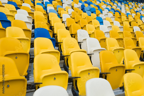 Chair in an empty stadium