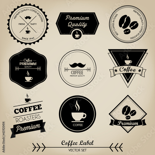 Coffee Vintage Label