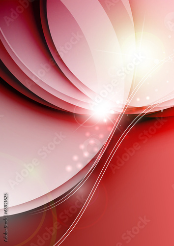 Elegant color waves with light flares