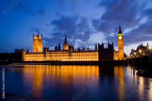 City of Westminster and Big Ben at night