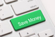 canvas print picture - Save Money button key