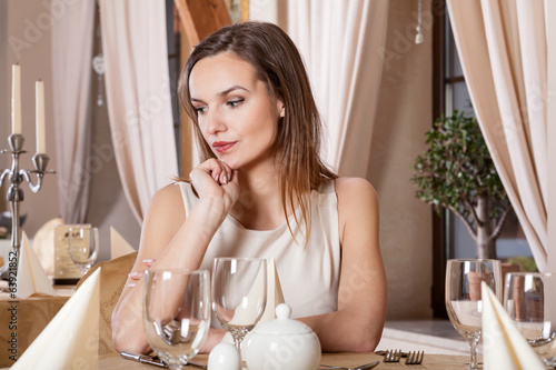 Beautiful woman on a date