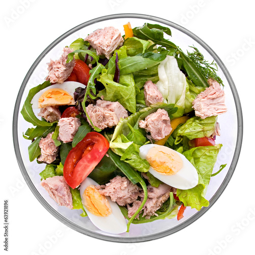 Salad with tuna fish