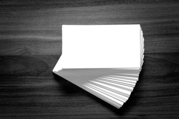 Blank corporate identity business card.
