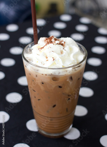 Coffee drink in a glass