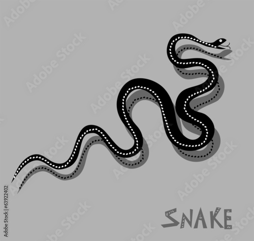 Snake - vector illustration