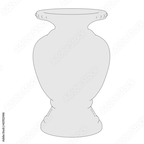 cartoon image of antique vase