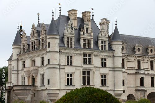 Castle of Chenonceau.in the Loire Valley.