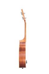 Side view of classic ukulele Hawaiian guitar