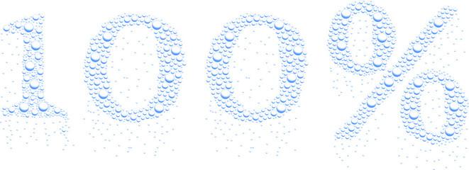 krople wody 100%