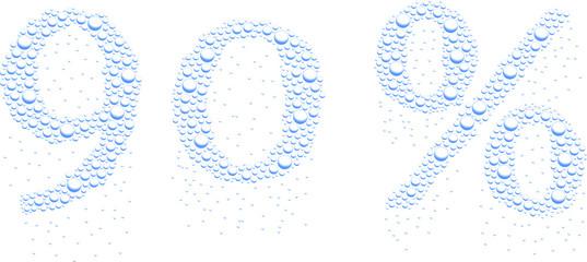 krople wody 90%
