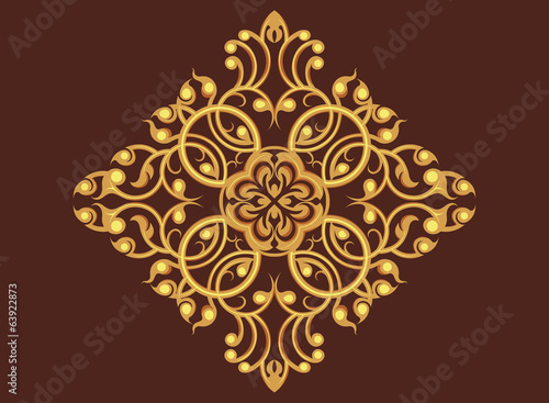 Beautiful golden art pattern wallpaper vector background