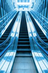 escalator going up stair