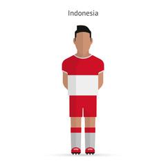 Indonesia football player. Soccer uniform.