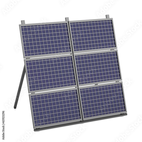 realistic 3d render of solar panel