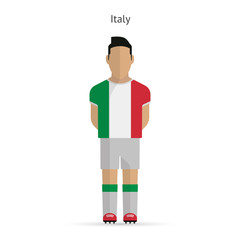 Italy football player. Soccer uniform.