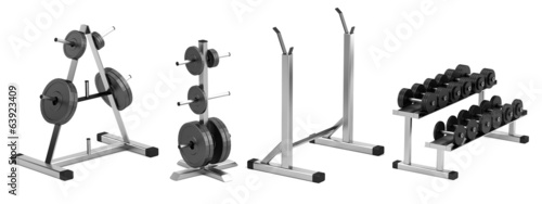 realistic 3d render of weight holders