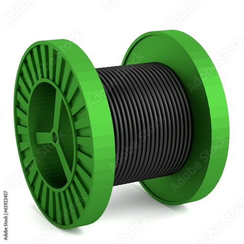 realistic 3d render of wire spool