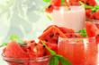watermelon juice watermelon milkshake with cut watermelon
