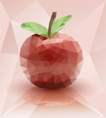 Красное  яблоко спелое