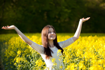 girl in a rape field
