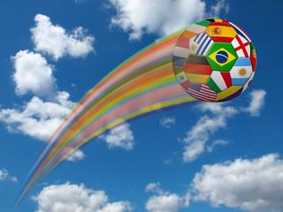 Fußball in verschiedenen Landesfarben