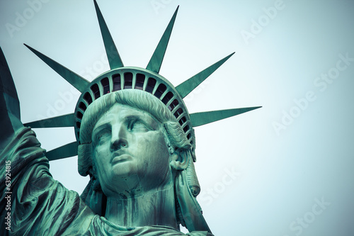 Foto op Canvas Standbeeld The Statue of Liberty at New York City