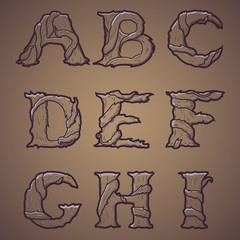 Halloween decorative alphabet - Tree & roots