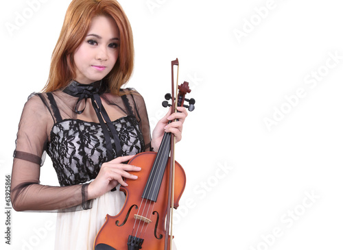 Asian woman and violin