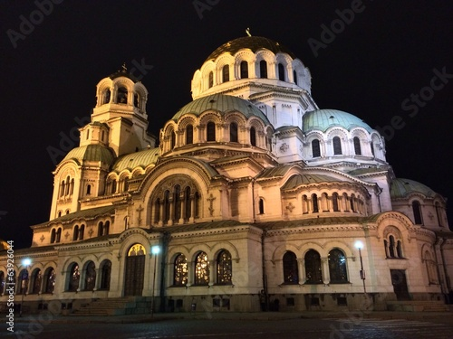 Sofia by night, Alexander Nevsky Cathedral