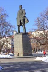 Lenin statue in Tyumen