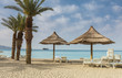 Sundy beach of Eilat - famous resort Israeli city