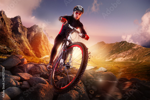 Mountain Bike cyclist riding