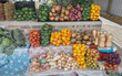 market stall with fresh fruit in african city hazeview