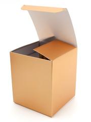 Geöffnete Pappschachtel