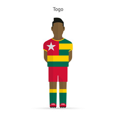 Togo football player. Soccer uniform.