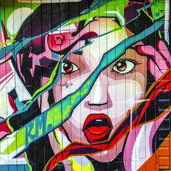 Screaming Girl Graffiti