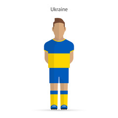 Ukraine football player. Soccer uniform.