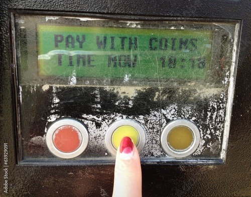 paid parking machine