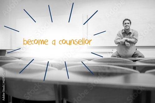 Become a counsellor against lecturer sitting in lecture hall