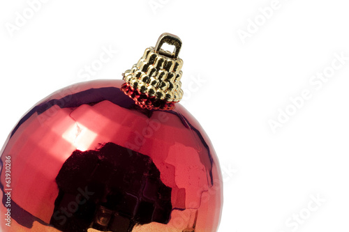 Christmas Red & Gold Ball Ornament