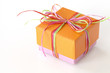 Lovely orange and pink present (gift box)