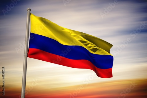 Composite image of colombia national flag