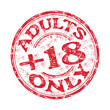 Adults only grunge rubber stamp
