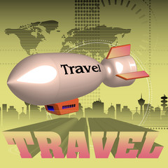 Travel by blimp