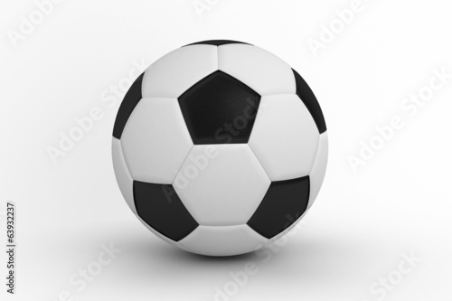 canvas print picture Black and white leather football