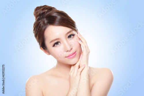 attractive asian woman face