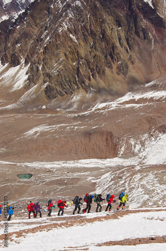 Climbers on the slope