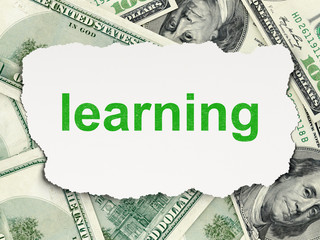 Education concept: Learning on Money background